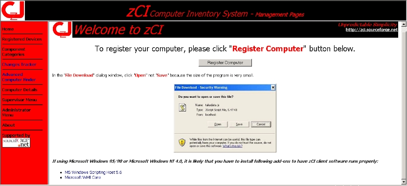Click to view zCI Computer Inventory System screenshots